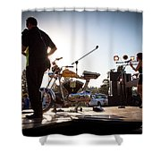 The Fabulous Kingpins - Pullman's 4th Of July Celebration Shower Curtain by David Patterson