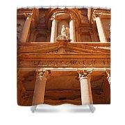 The Facade Of Al Khazneh In Petra Jordan Shower Curtain by Robert Preston