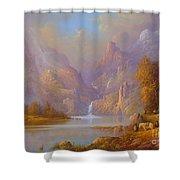 The Fellowship Doors Of Durin Moria.  Shower Curtain by Joe  Gilronan