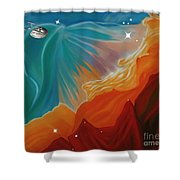 The Final Frontier Shower Curtain by Barbara McMahon