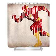 The Flash Shower Curtain by Ayse Deniz