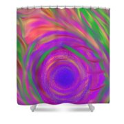The Flora Is Breathing Shower Curtain by Daina White