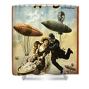 The Fly Cop Shower Curtain by Aged Pixel