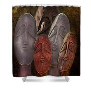 The Following Shower Curtain by Terry Fleckney