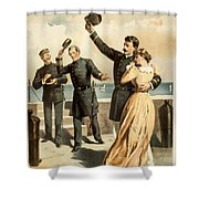 The Forst is mine Shower Curtain by Aged Pixel