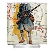 The French Infantry In The Battle Shower Curtain by H Delaspre