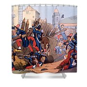The French Legion Storming A Carlist Shower Curtain by English School