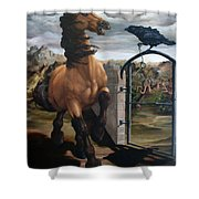 The Gatekeeper Shower Curtain by Lisa Phillips Owens