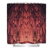 The Gates Of Barad Dur Shower Curtain by Curtiss Shaffer