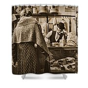 The General Store Shower Curtain by Priscilla Burgers