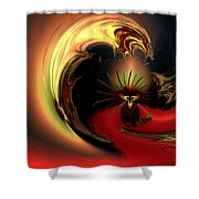 The Glory Of His Eminance Shower Curtain by Claude McCoy