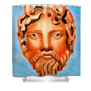 The God Jupiter Or Zeus.  Shower Curtain by Augusta Stylianou