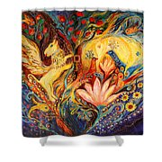 The Golden Griffin Shower Curtain by Elena Kotliarker