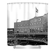 The Good Seats Shower Curtain by Barbara McDevitt