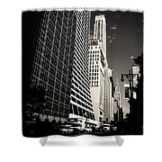 The Grace Building And The Chrysler Building - New York City Shower Curtain by Vivienne Gucwa