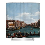The Grand Canal at Venice Shower Curtain by Antonio Canaletto