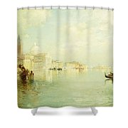 The Grand Canal Shower Curtain by Thomas Moran