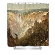 The Grand Canyon Of The Yellowstone Shower Curtain by Thomas Hill