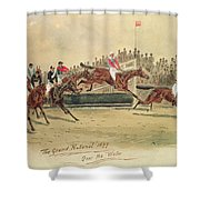 The Grand National Over The Water Shower Curtain by William Verner Longe