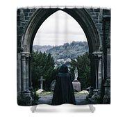 The Graveyard Shower Curtain by Joana Kruse