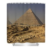The Great Pyramids Of Giza Egypt  Shower Curtain by Ivan Pendjakov