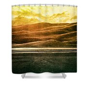 The Great Sand Dunes Shower Curtain by Brett Pfister