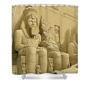 The Great Temple Of Abu Simbel Shower Curtain by David Roberts