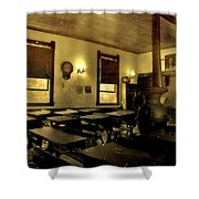 The Haunted Classroom Shower Curtain by Dan Sproul