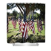 The Healing Field Shower Curtain by Laurel Powell