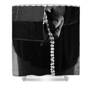 The Heist Shower Curtain by Edward Fielding
