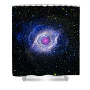 The Helix Nebula Shower Curtain by Adam Romanowicz