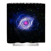 The Helix Nebula  Shower Curtain by The  Vault - Jennifer Rondinelli Reilly