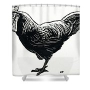 The Hen Shower Curtain by George Adamson