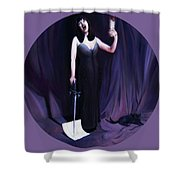 The Heretic Shower Curtain by Shelley Irish