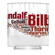 The Hobbit Shower Curtain by Florian Rodarte