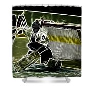 The Hockey Goalie Shower Curtain by Bob Christopher