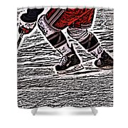 The Hockey Player Shower Curtain by Karol Livote
