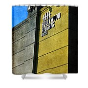 The Hollywood Heights Hotel Shower Curtain by Janice Rae Pariza