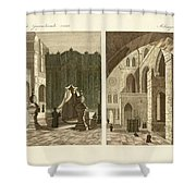The holy sepulcher of Jerusalem Shower Curtain by Splendid Art Prints