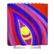 The Horizon Of Osirus Shower Curtain by Daina White