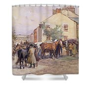 The Horse Fair  Shower Curtain by John Atkinson