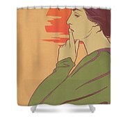 The Hour Of Silence Shower Curtain by Henri Georges Jean Isidore Meunier