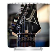The Ibanez Guitar Shower Curtain by David Patterson