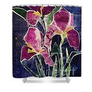 The Iris Melody Shower Curtain by Sherry Harradence