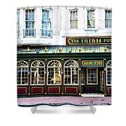 The Irish Pub - Philadelphia Shower Curtain by Bill Cannon