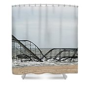 The Jetstar Rollercoaster In Seaside Heights Nj Shower Curtain by Living Color Photography Lorraine Lynch