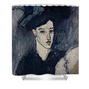 The Jewess Shower Curtain by Amedeo Modigliani