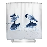The Journey Shower Curtain by Jackie Mestrom
