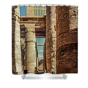 The Karnak Temple Shower Curtain by Erik Brede