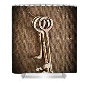 The Keys Shower Curtain by Edward Fielding